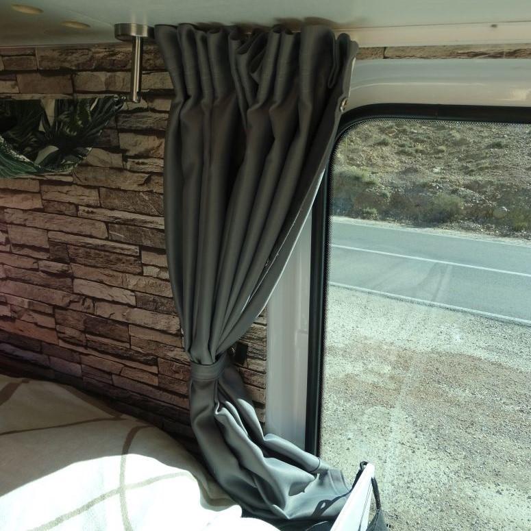 Wohnmobil Gardine auf Fahrerseite