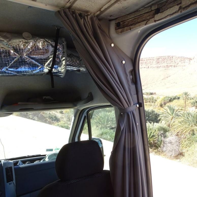 Wohnmobil Gardine für Fahrerraum