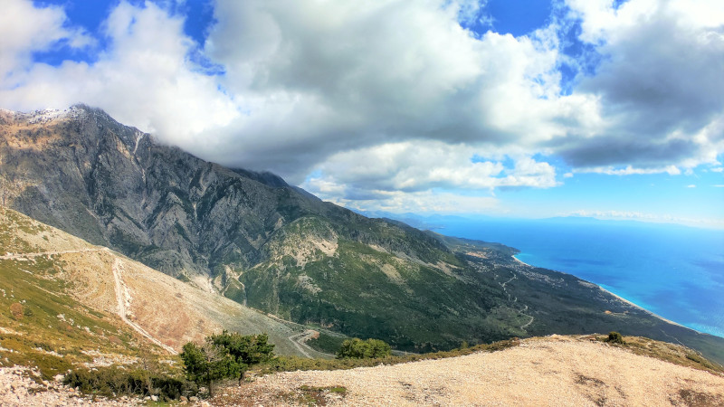 Aussicht vom Aussichtspunkt Panorama Llogara