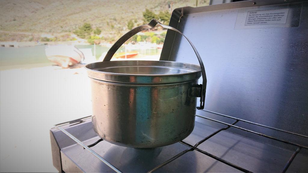 Wasser aufkochen