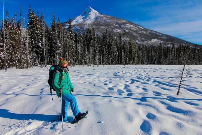 Abenteuer vanlife Schneeschuhwandern