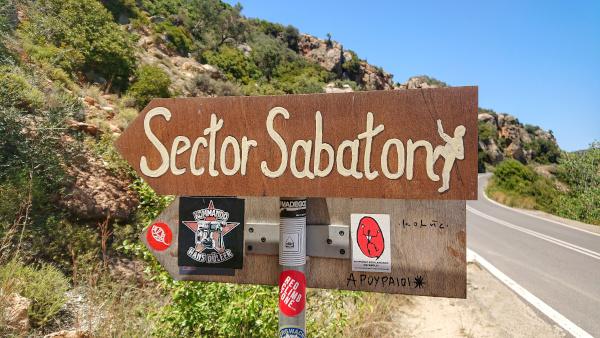 Ausschilderung Sektor Sabaton