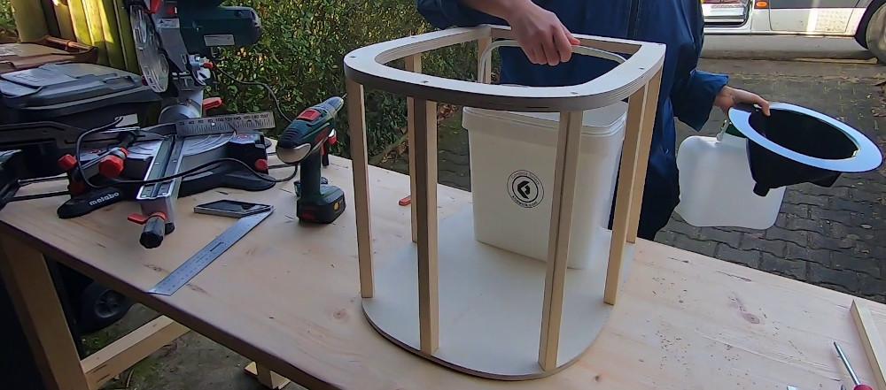 Grundgerüst Wohnmobil Toilette