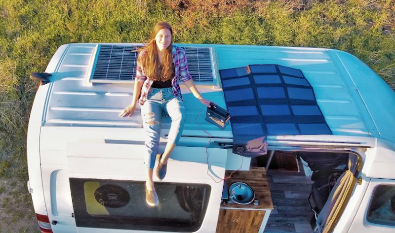 mobile Power Station und faltbares Solarpanel
