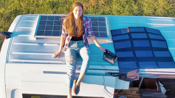 mobile Power Station und faltbares Solarpanele