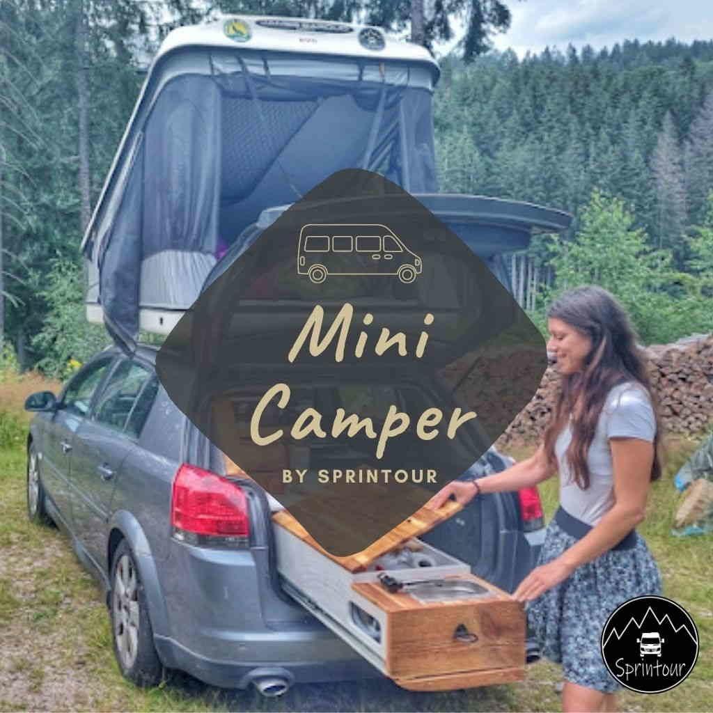 Mini Camper mit Campingbox