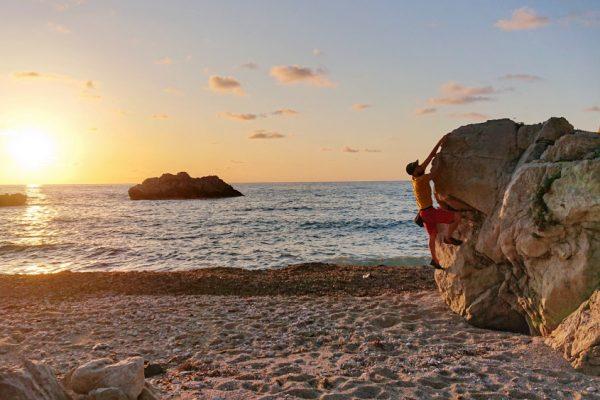 Sunset bouldern