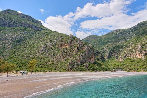 Einsamer Strand in Griechenland